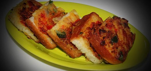 Spicy Vegetable Toast Recipe In Hindi