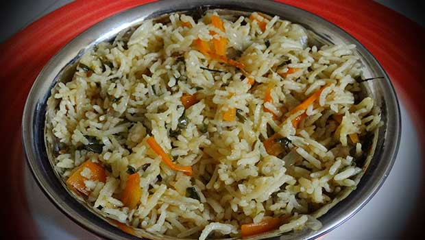 Methi Pulao Recipe In Hindi