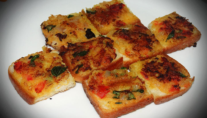 Bread Rava Toast Recipe In Hindi